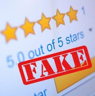 fake online reviews