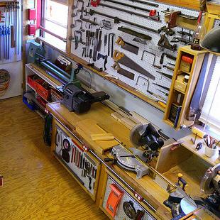 professional woodworking workshop