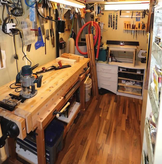 woodworking workshop layouts