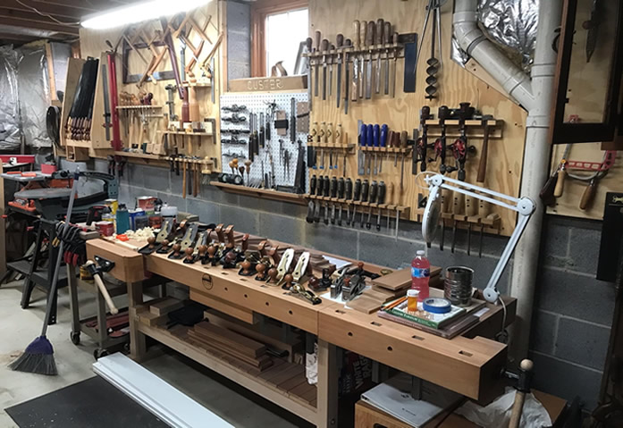 small shop setup woodworking